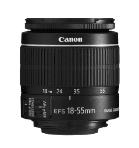the canon 18-55mm lens