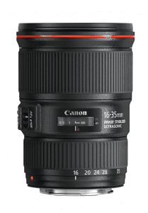 the canon 16-35mm f/4 lens