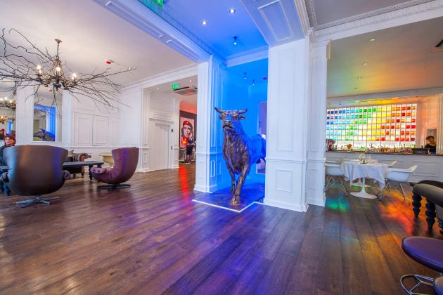 Lobby at the Exhibitionist Hotel