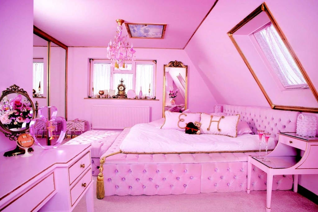a pink room in Eaton House studio