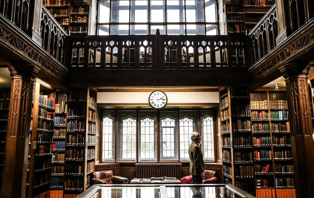 Stay in a library