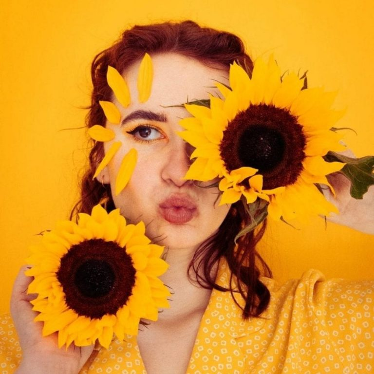 Flower Portrait Photography Face @FromBeeWithLove Bronte Huskinson